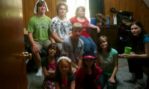Leah and her friends at small group