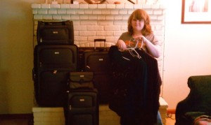 Leah's graduation luggage