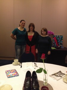 Leah (right) with her sister Heather (left) and me (middle) at my Cinderella women's conference on September 20