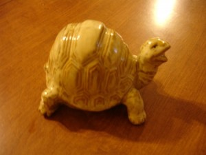 ceramic turtle I bought as a gift for Ray