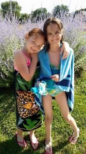 Leah's nieces Violet & Annabelle