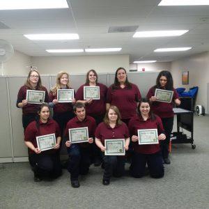 Leah's graduating EMT class