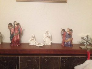 the Holy family ceramic decoration